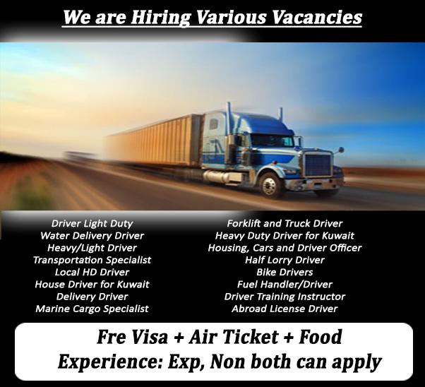 Driver Jobs in Kuwait