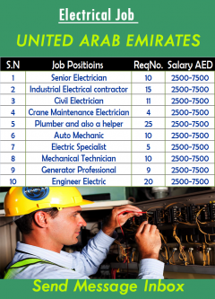 Electrical Jobs in Dubai