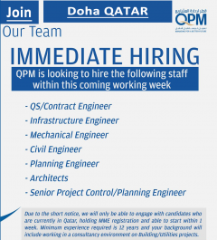 Qatar Project Management QPM jobs in Qatar