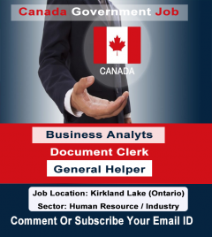 Canada Government Jobs business analyst and client document clerk