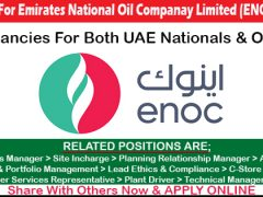 Job Vacancy in ENOC Dubai Oil & Gas Company jobs