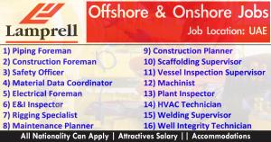 Latest Job Offshore & Onshore Jobs UAE